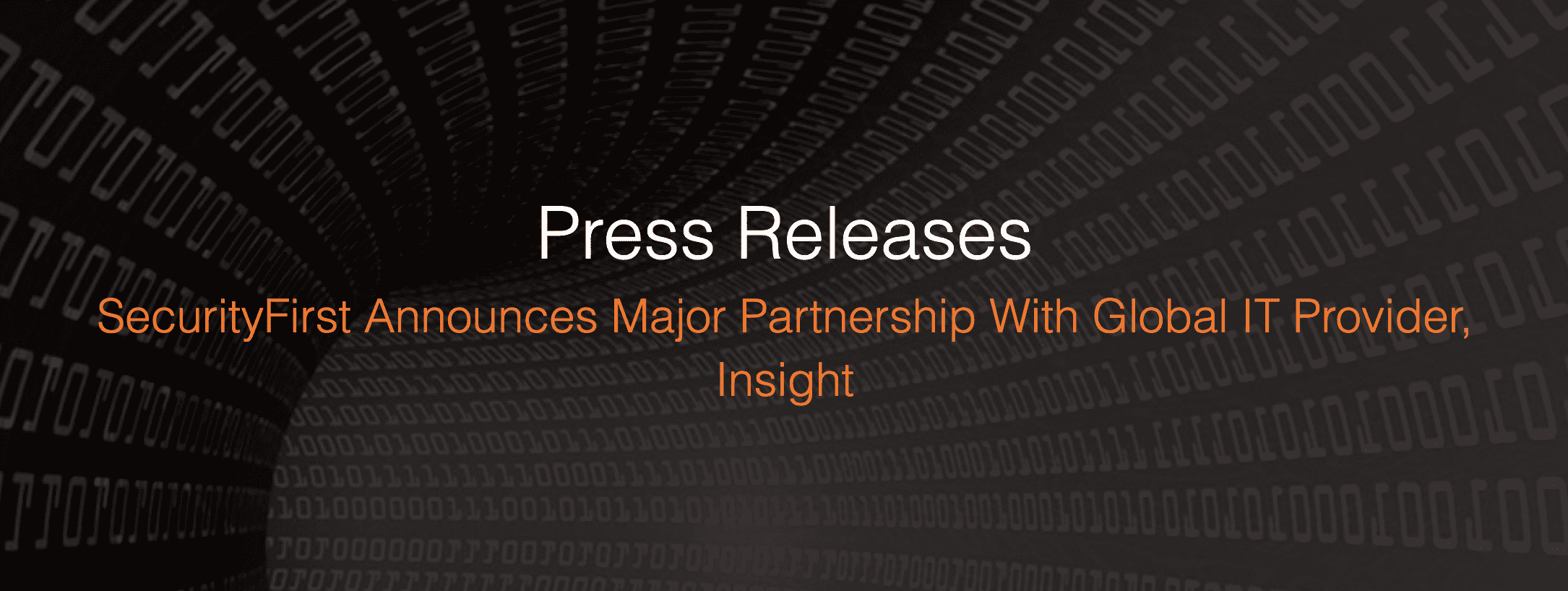 Security First Announces Major Partnership with Global IT Provider, Insight Enterprises.