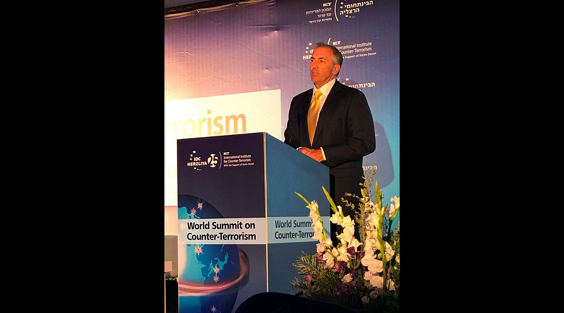 Michael Balboni Speaks at 2018 World Summit on Counter-Terrorism in Israel